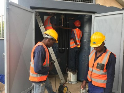 solar geyser installation2